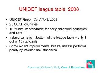 UNICEF league table, 2008