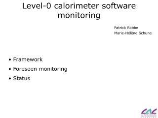 Level-0 calorimeter software monitoring