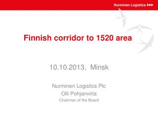 Finnish corridor  to 1520  area