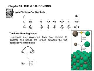 Chapter 10.  CHEMICAL BONDING