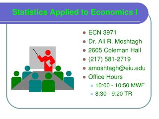 Statistics Applied to Economics I