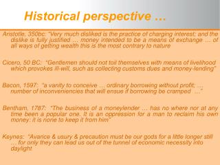 Historical perspective �