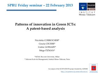 SPRU Friday seminar – 22 February 2013