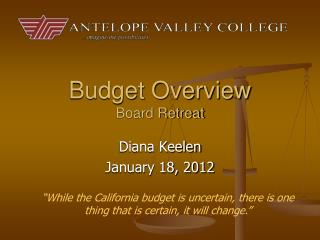 Budget Overview Board Retreat