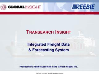 TRANSEARCH INSIGHT  Integrated Freight Data   Forecasting System     Produced by Reebie Associates and Global Insight, I