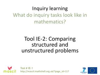 Inquiry  learning What do inquiry tasks look like in mathematics?