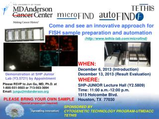 Come and see an innovative approach for FISH sample preparation and automation