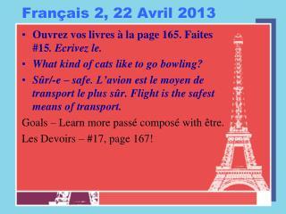 Français  2,  22  Avril 2013