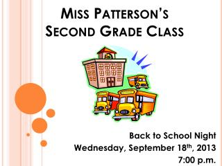 Miss Patterson�s  Second Grade Class