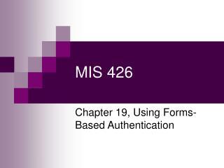 MIS 426