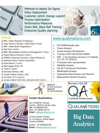 qualimations SIX SIGMA/Quality Jobs Failure Analysis, Quality Systems Development. .