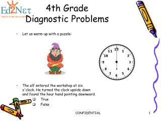 4th Grade Diagnostic Problems