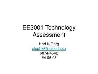 EE3001 Technology Assessment