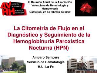 La Citometr a de Flujo en el Diagn stico y Seguimiento de la Hemoglobinuria Parox stica Nocturna HPN