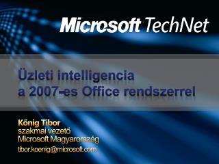 Üzleti intelligencia  a 2007-es Office rendszerrel