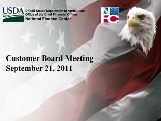 Customer Board Meeting September 21, 2011