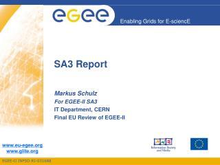 SA3 Report