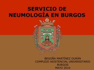 SERVICIO DE NEUMOLOGÍA EN BURGOS