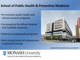 School of Public Health & Preventive Medicine