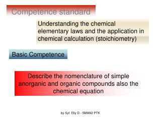 Competence standard