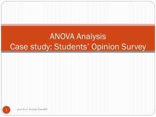 ANOVA Analysis Case study: Students' Opinion Survey