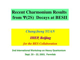 Recent Charmonium Results  from Ψ(2S)  Decays at BESII