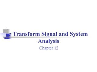 Z Transform Signal and System Analysis