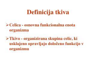 Definicija tkiva