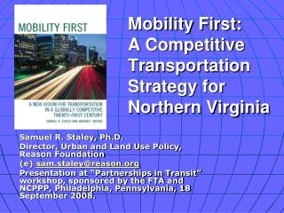Mobility First:  A Competitive Transportation Strategy for Northern Virginia