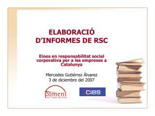 ELABORACI   D INFORMES DE RSC