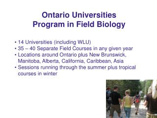 Ontario Universities Program in Field Biology