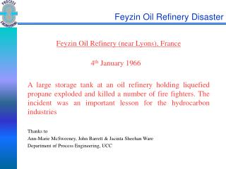 Feyzin Oil Refinery Disaster