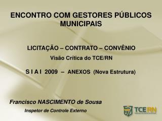 ENCONTRO COM GESTORES P BLICOS MUNICIPAIS