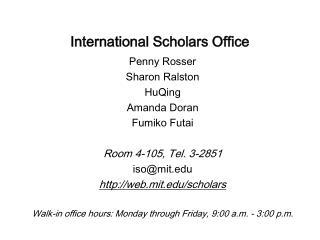 International Scholars Office