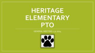 Heritage Elementary  PTO