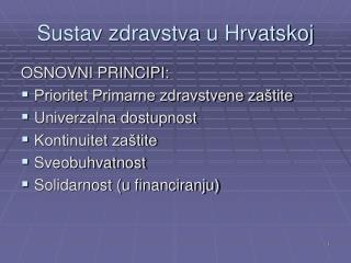 Sustav zdravstva u Hrvatskoj