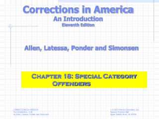 Corrections in America An Introduction Eleventh Edition