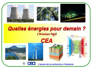 Quelles énergies pour demain ? Christian Ngô CEA