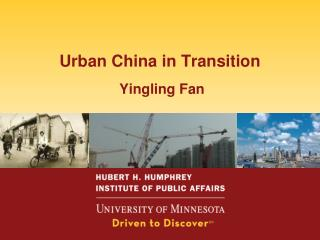 Urban China in Transition  Yingling Fan