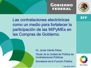 Las contrataciones electr nicas como un medio para fortalecer la participaci n de las MIPyMEs en las Compras de Gobierno