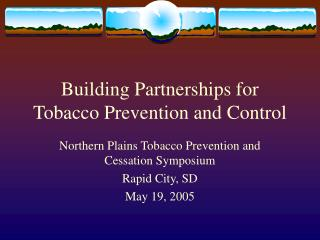 Building Partnerships for Tobacco Prevention and Control
