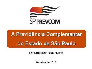 A Previdência Complementar  do Estado de São Paulo