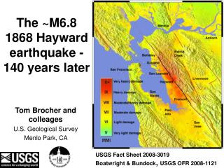 The ~M6.8 1868 Hayward earthquake - 140 years later