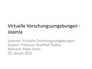 Virtuelle  Vorschungsumgebungen  -  Joomla