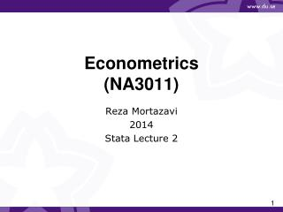 Econometrics  (NA3011)