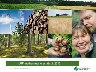 Medlemmar i LRF – Procentuell förändring 1997-2013