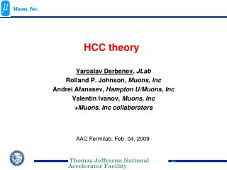 HCC theory