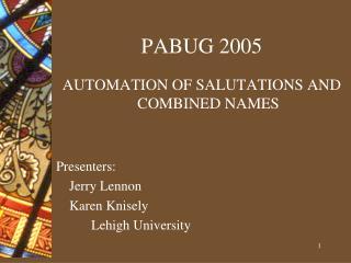 PABUG 2005