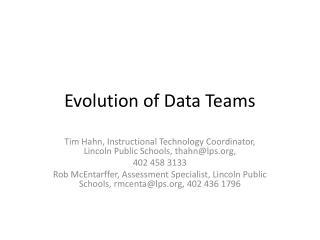 Evolution of Data Teams