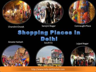 Top Shopping Places in Delhi